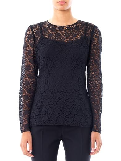 Dolce & Gabbana Lace round-neck top