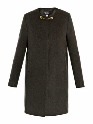 Chain link side-pleat volume coat