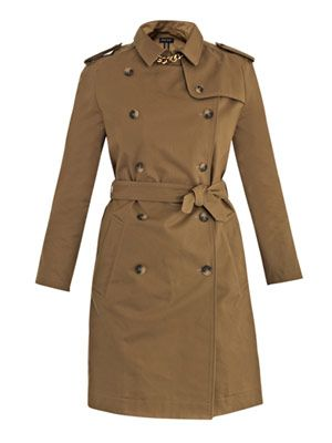 Gold-plated cotton trench coat