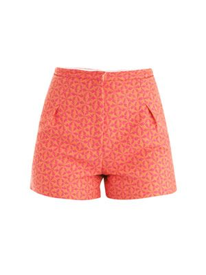 Geometric jacquard shorts