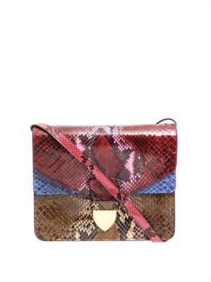 Spear tab python cross-body bag