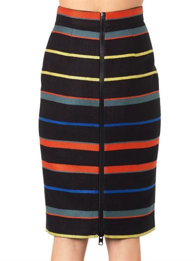 Givenchy Striped tweed pencil skirt