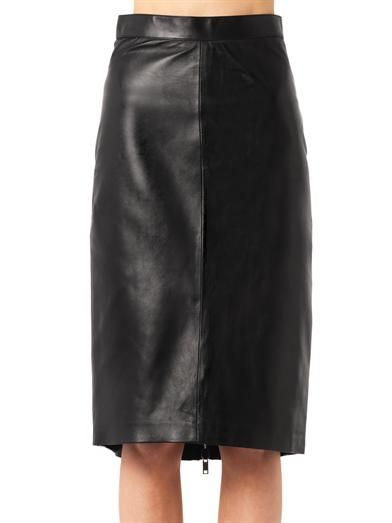 Givenchy Zip-back leather pencil skirt