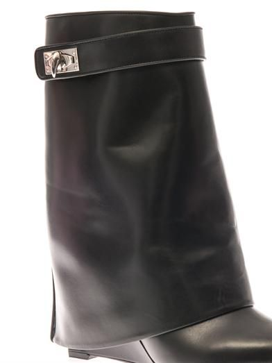Givenchy Shark Lock leather ankle boots