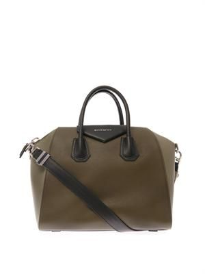 Antigona tri-colour medium leather tote