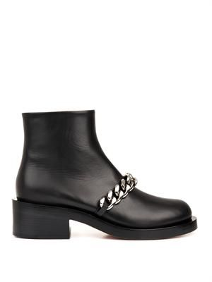 Laura chain leather ankle boots