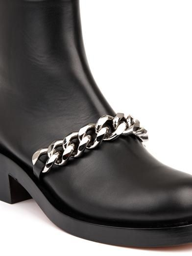 Givenchy Laura chain leather ankle boots