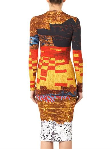 Givenchy Pixelated mosaic-print jersey dress