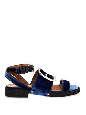 Alessa velvet buckle sandals