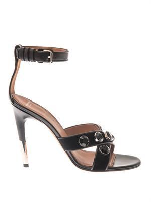 Agata velvet and leather sandals