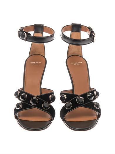 Givenchy Agata velvet and leather sandals