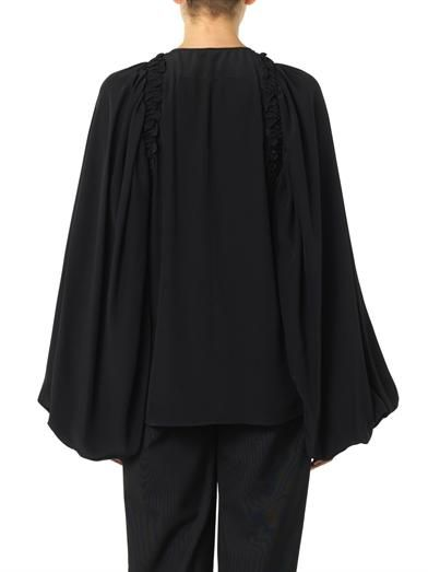 Givenchy Balloon-sleeve ruffle-trim blouse