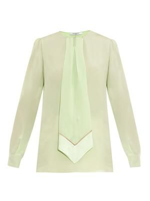 Tie-feature silk blouse