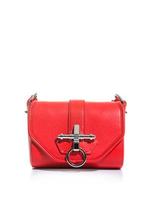 Obsedia leather shoulder bag