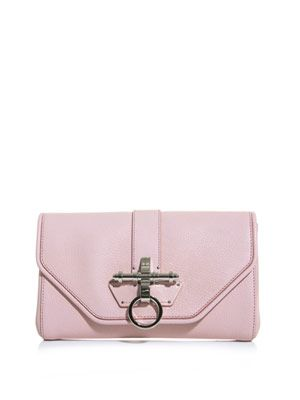 Obsedia leather clutch