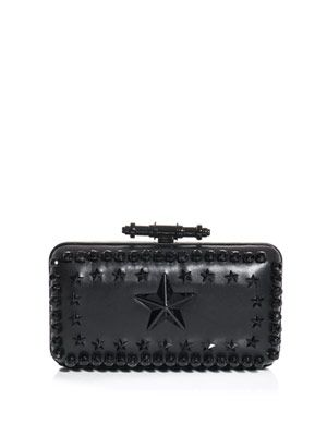 Obsedia star-studded leather clutch