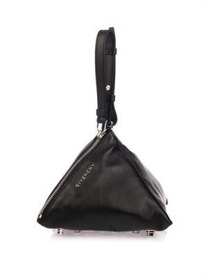 Pyramid leather clutch