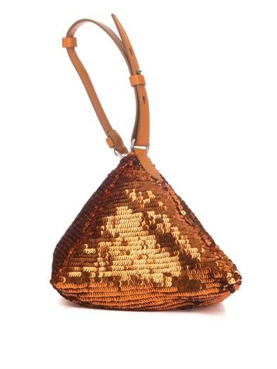 Givenchy Pyramid sequin and leather clutch