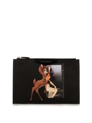 Antigona Bambi-print small clutch