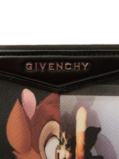 Givenchy Antigona Bambi-print medium clutch