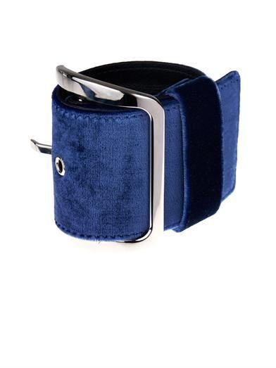 Givenchy Buckle velvet bracelet