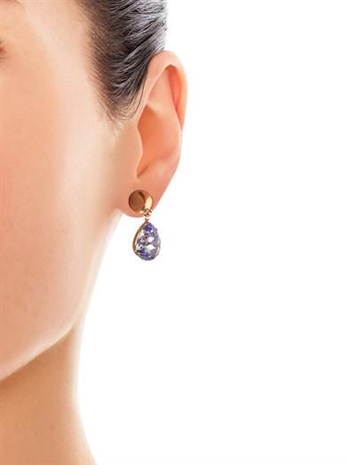 Givenchy Cone and strass magnetic earrings