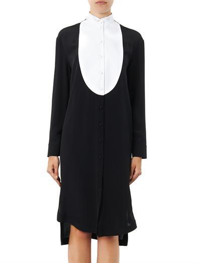 Givenchy Bib-front silk-crepe dress