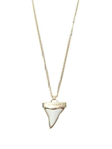 Givenchy Double-chain shark's tooth necklace