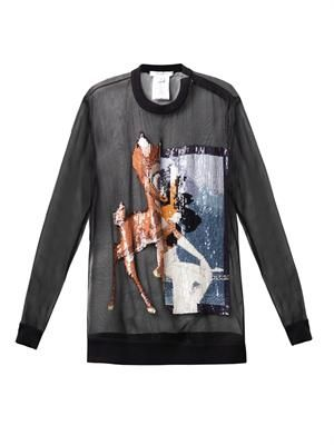Sequin-embellished Bambi silk sweatshirt