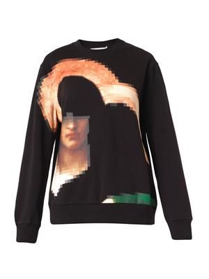 Pixelated Madonna-print sweatshirt