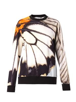 Butterfly-print sweatshirt