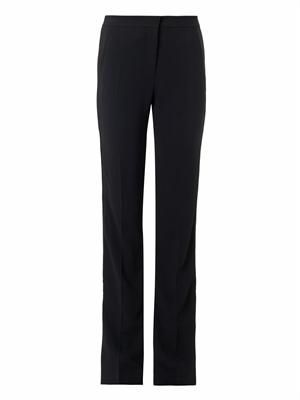 Satin-stripe cady trousers
