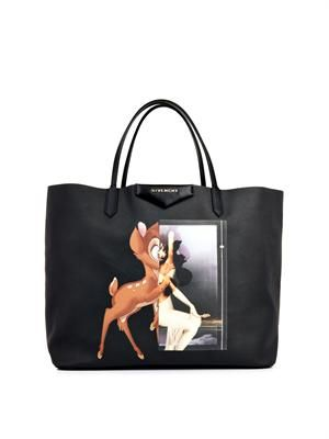 Antigona Bambi-print shopper