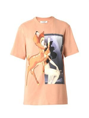 Bambi-print cotton T-shirt