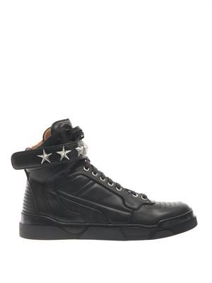 Tyson leather high-top trainers