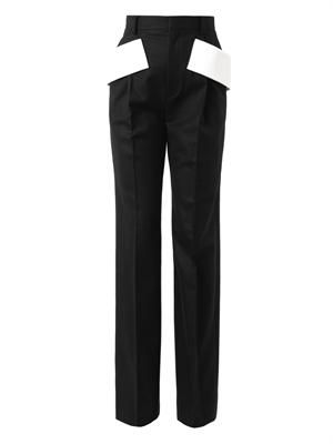 Side-sash tailored trousers