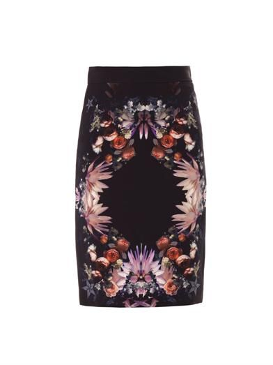 Givenchy Floral-print pencil skirt