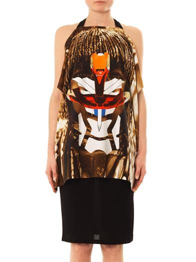 Givenchy Masai face-print jersey dress