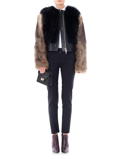 Givenchy Contrast fur jacket