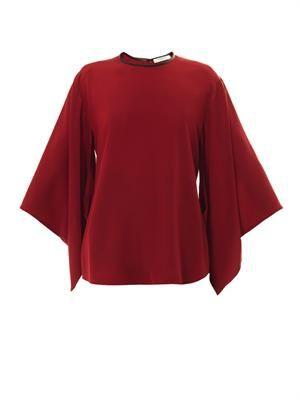 Kimono-sleeved blouse