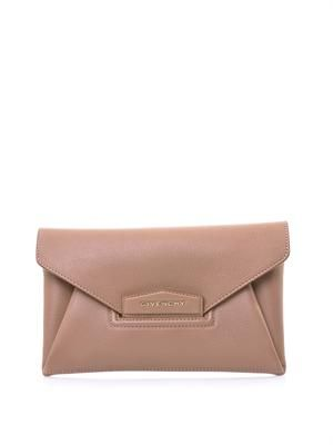 Antigona leather envelope clutch