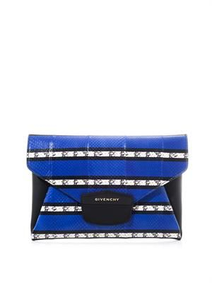 Antigona striped ayers clutch