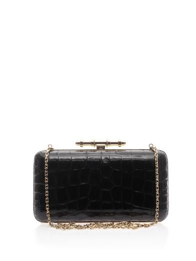 Givenchy Obsedia Minaudière leather box clutch
