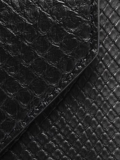 Givenchy Shark's tooth python clutch