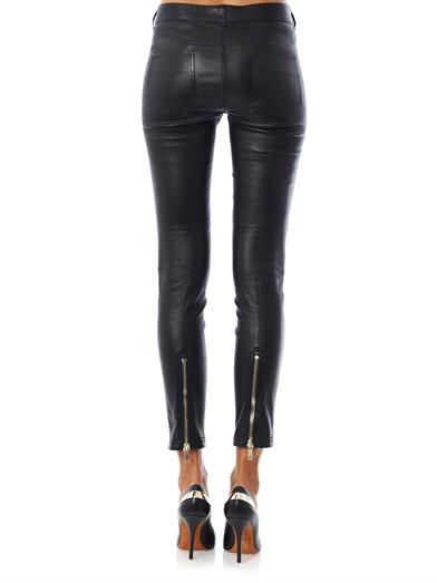 Givenchy Cropped stretch-leather trousers