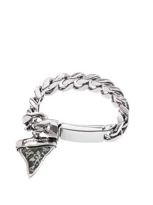 Palladium-plated shark's tooth bracelet