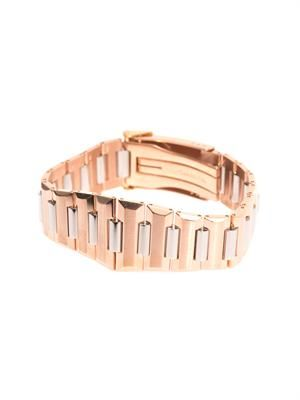 Rose gold-tone watch-style bracelet