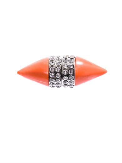Givenchy Coral & crystal magnetic single earring