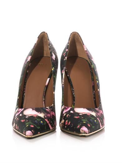 Givenchy Rose and camouflage-print point-toe pumps