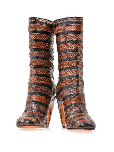 Givenchy Python and leather boots